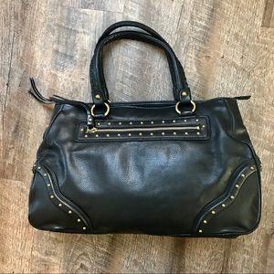Michael Kors Black Leather studded shoulder bag
